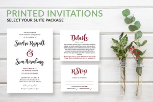 Simple Modern Script Wedding Invitations