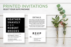 Simple Modern Wedding Invitations - DesignsbyZal