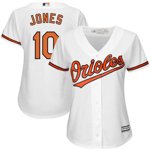 Adam Jones Baltimore Orioles Majestic Women's Cool Base Player Jersey White