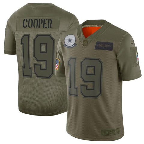 Amari Cooper Dallas Cowboys Nike 2019 Salute to Service Limited Jersey Olive