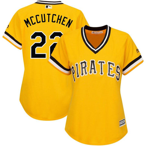 Women's Andrew McCutchen Pittsburgh Pirates Majestic Alternate Cool Base Player Jersey Gold