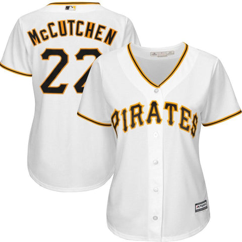 Women's Andrew McCutchen Pittsburgh Pirates Majestic Cool Base Player Jersey White
