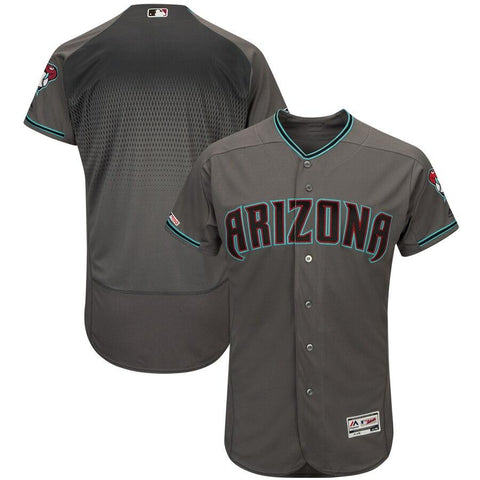 ArizonaDiamondbacks Majestic Flex Base Authentic Team Jersey Gray