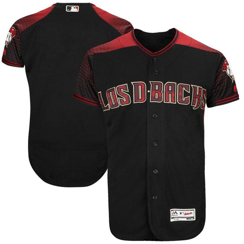 ArizonaDiamondbacks Majestic Hispanic Heritage Authentic Team Jersey Black