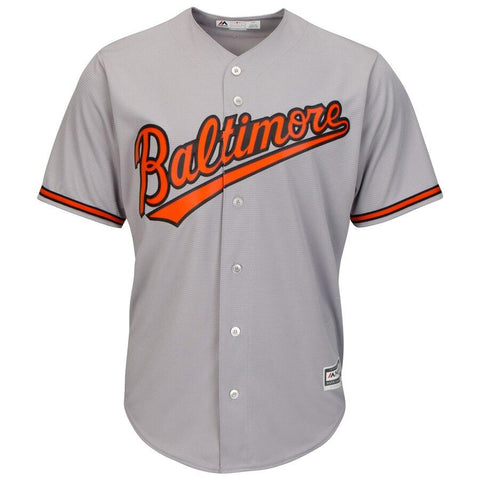 BaltimoreOrioles Majestic Official Cool Base Jersey Gray