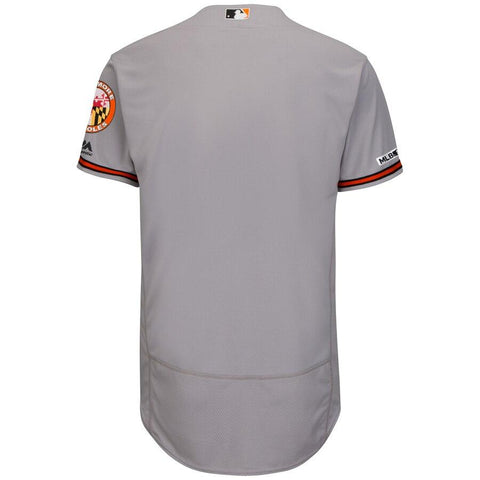 BaltimoreOrioles Majestic Road Flex Base Authentic Collection Team Jersey Gray