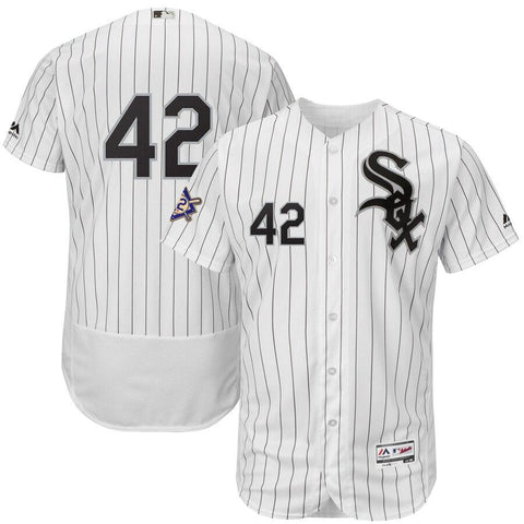 Chicago WhiteSox Majestic 2019 Jackie Robinson Day Flex Base Jersey White