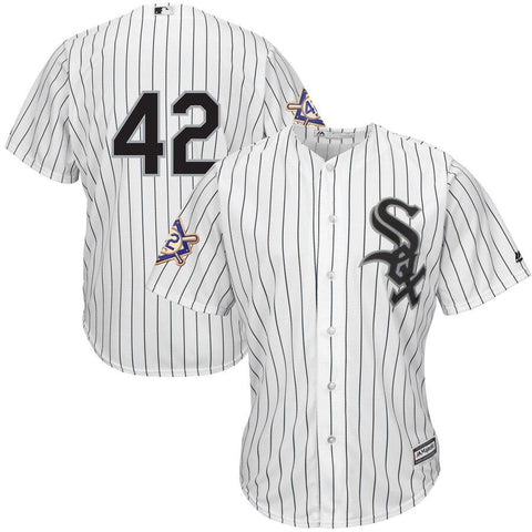 Chicago WhiteSox Majestic 2019 Jackie Robinson Day Official Cool Base Jersey White