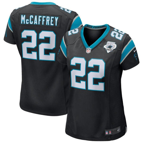 Women's Christian McCaffrey Carolina Panthers Nike 25th Season Game Jersey Black