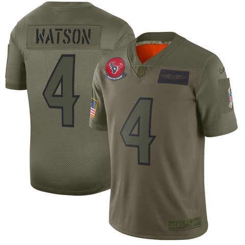 Deshaun Watson Houston Texans Nike 2019 Salute to Service Limited Jersey Olive