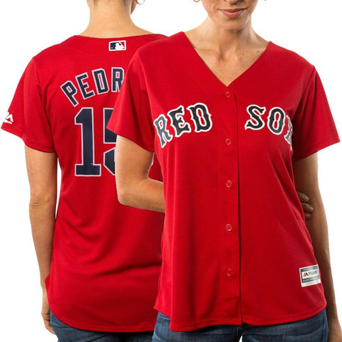 Dustin Pedroia Boston Red Sox Majestic Women's Cool Base Player Jersey Scarlet