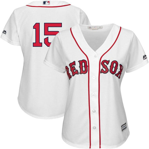 Dustin Pedroia Boston Red Sox Majestic Women's Team Cool Base Player Jersey White