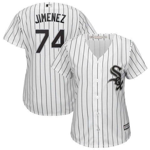 Eloy Jimenez Chicago White Sox Majestic Women's Cool Base Player Jersey White Black