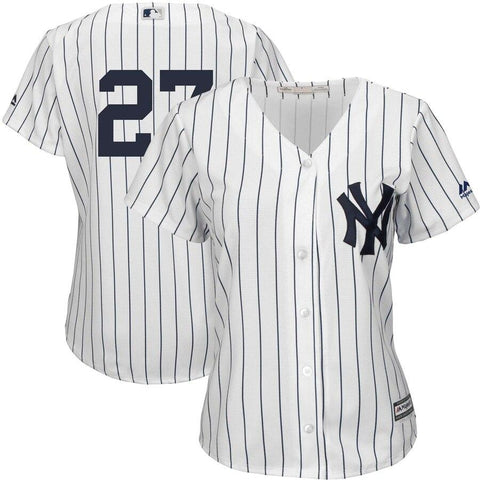 Women's Giancarlo Stanton New York Yankees Majestic Team Cool Base Player Jersey White