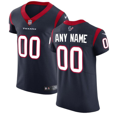 HoustonTexans Nike Vapor Untouchable Elite Custom Jersey - Navy