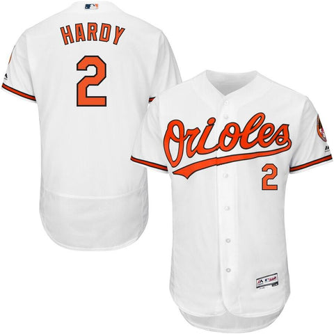 JJ Hardy Baltimore Orioles Majestic Home Flex Base Authentic Collection Player Jersey White