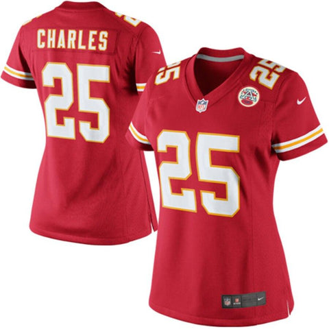 Women's Jamaal Charles Kansas City Chiefs Nike Limited Jersey Red