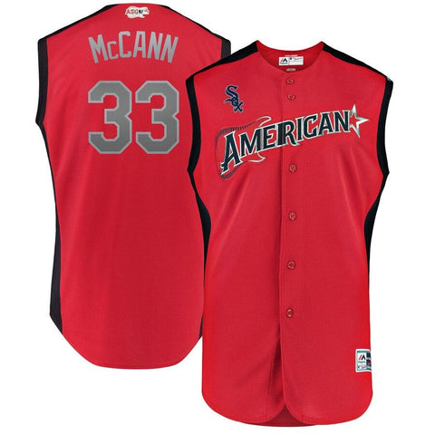 James McCann American League Majestic 2019 MLB All-Star Game Workout Player Jersey Red