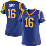 Women's Jared Goff Los Angeles Rams Nike Player Game Jersey Royal