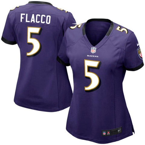 Women's Joe Flacco Baltimore Ravens Nike Game Jersey Purple