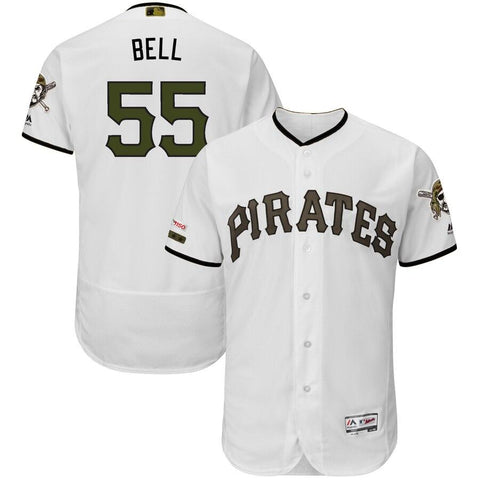 Josh Bell Pittsburgh Pirates Majestic Alternate Authentic Collection Flex Base Player Jersey White