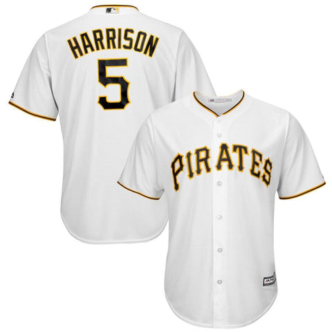 Josh Harrison Pittsburgh Pirates Majestic Cool Base Player Jersey White