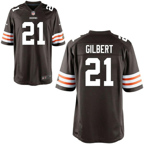 Justin Gilbert Cleveland Browns Historic Logo Nike Game Jersey Brown