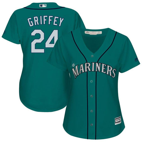 Ken Griffey Jr. Seattle Mariners Majestic Women's Cool Base Player Jersey Aqua
