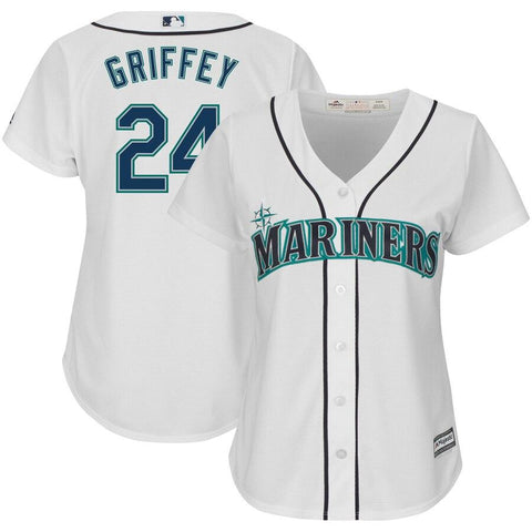 Ken Griffey Jr. Seattle Mariners Majestic Women's Cool Base Player Jersey White