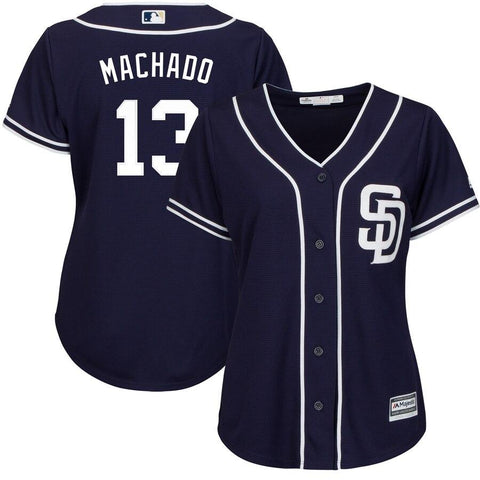 Manny Machado San Diego Padres Majestic Women's Cool Base Player Jersey Navy