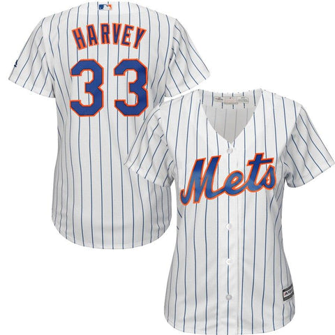 Matt Harvey New York Mets Majestic Women's Cool Base Player Jersey White
