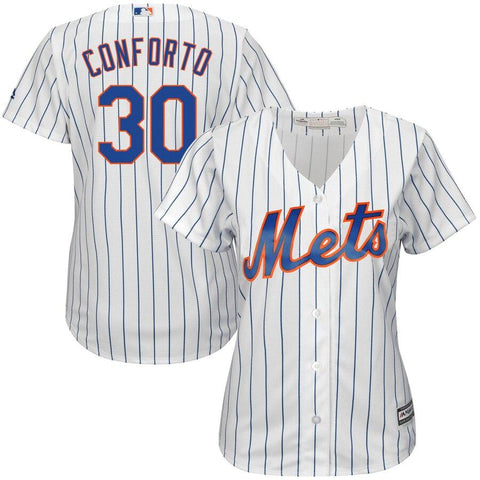 Michael Conforto New York Mets Majestic Women's Home Cool Base Player Jersey White