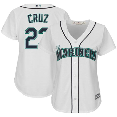 Nelson Cruz Seattle Mariners Majestic Women's Cool Base Player Jersey White