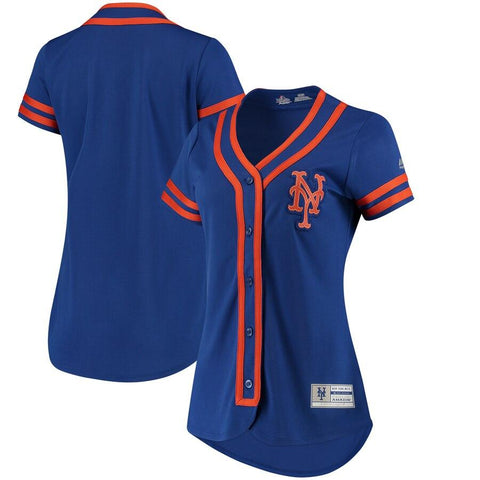 NewYork Mets Majestic Women's Absolute Victory Fashion Team Jersey Royal Orange
