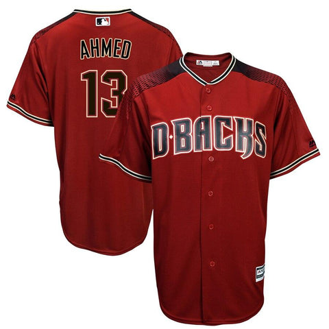 Nick Ahmed Arizona Diamondbacks Majestic Alternate Official Cool Base Player Jersey Red
