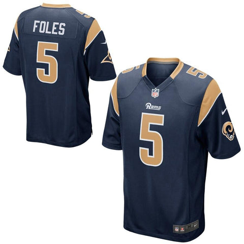 Nick Foles Los Angeles Rams Nike Game Jersey Navy