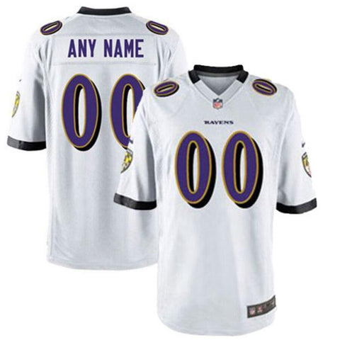 Nike Men's BaltimoreRavens Customized White Game Jersey