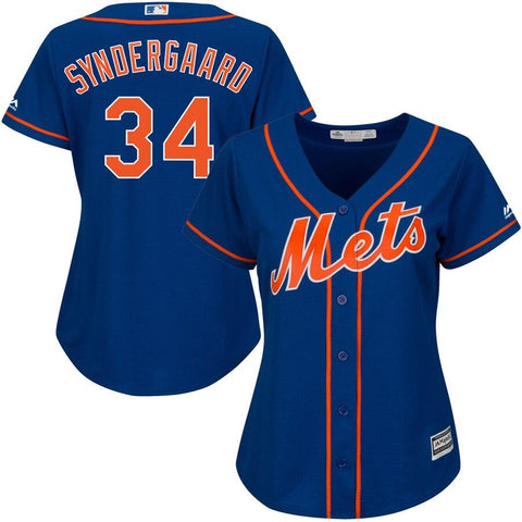 Noah Syndergaard New York Mets Majestic Women's Cool Base Player Jersey Royal
