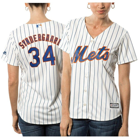 Noah Syndergaard New York Mets Majestic Women's Cool Base Player Jersey White