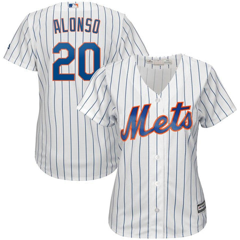 Pete Alonso New York Mets Majestic Women's Home Cool Base Player Jersey White