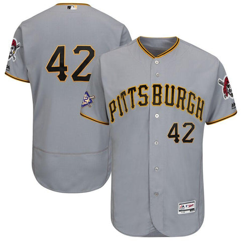 Pittsburgh Pirates Majestic 2019 Jackie Robinson Day Flex Base Jersey Gray