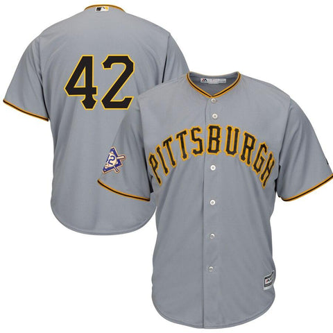 Pittsburgh Pirates Majestic 2019 Jackie Robinson Day Official Cool Base Jersey Gray