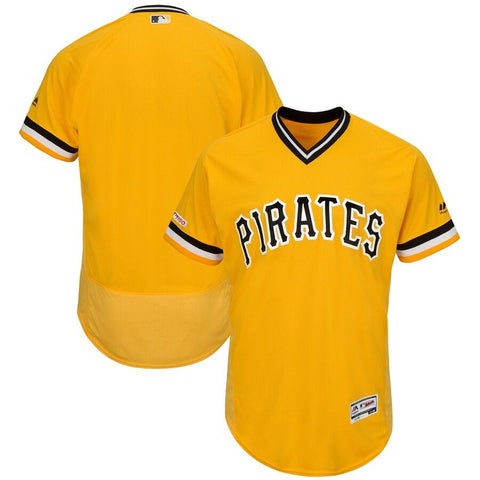 PittsburghPirates Majestic Alternate Flex Base Authentic Collection Team Jersey Gold