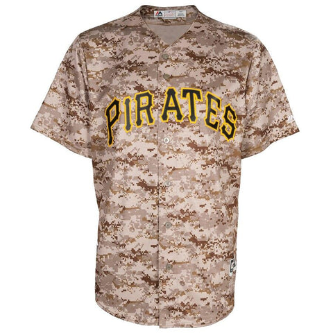 PittsburghPirates Majestic Official Cool Base Jersey Camo