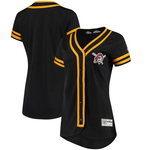 Women's PittsburghPirates Majestic Absolute Victory Fashion Team Jersey Black Gold