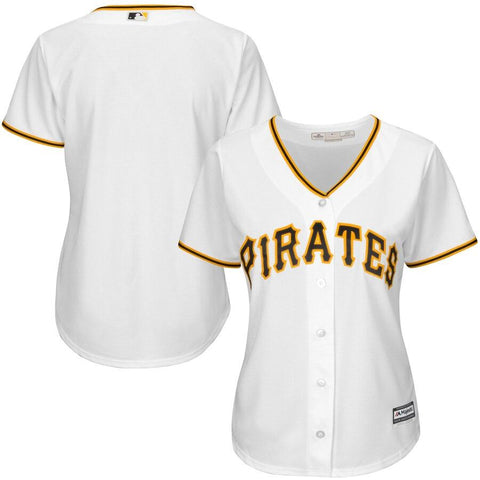 Women's PittsburghPirates Majestic Cool Base Jersey White