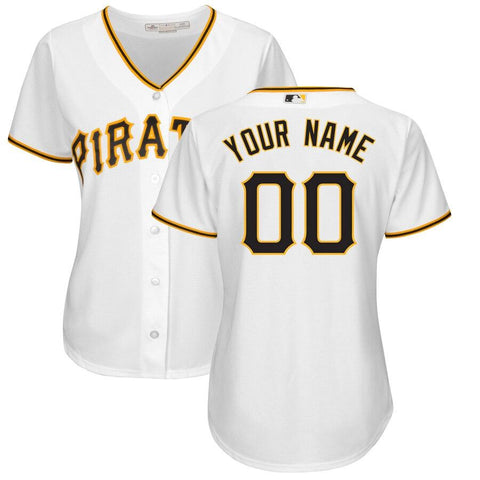 Women's PittsburghPirates Majestic Home Cool Base Custom Jersey White