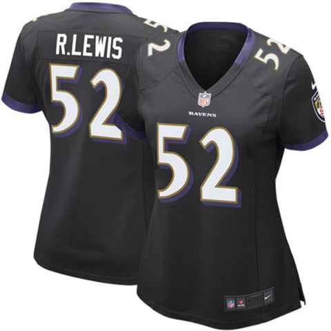 Women's Ray Lewis Baltimore Ravens Nike Game Jersey Black