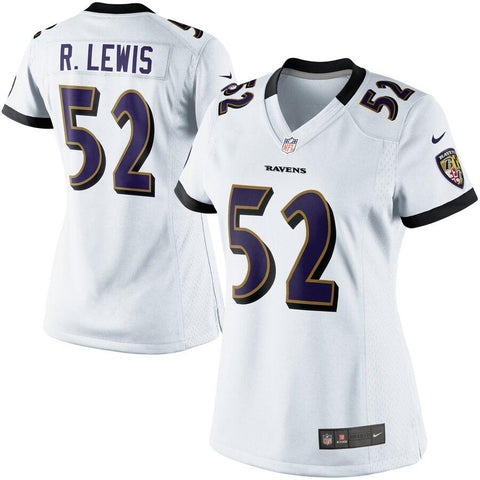 Women's Ray Lewis Baltimore Ravens Nike Game Jersey White