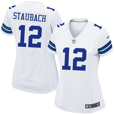 Women's Roger Staubach Dallas Cowboys Nike Retired Game Jersey White